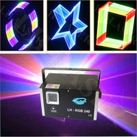 Wholesale 3d Lasers Rgb - Stunning 2w 3D Laser Light   2 watt RGB Full color Laser Light   2w rgb with 2d 3d change for Halloween Christmas