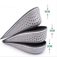 yüksekliği arttıran iç taban topuk kaldırıcıları toptan satış-Erkekler Kadınlar Için 3 Boyutları EVA Stealth Ayarlanabilir Artan Tabanlık Ayakkabı Pad Artırmak Yükseklik Astarı Hava Yastık Kaldırma Pedleri Topuk