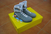 Wholesale Air Mags - Air Mags Marty McFly's Sneakers Glow In The Dark Men's Basketball LED Shoes Footwear Mag Glow Sneaker Gray Black Red Colors With Boxes