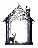tier gemalter baum großhandel-YKXLLW Deer Tree Abstrakte Traummalerei Nach Anzahl Malen Malen zeichnung bilder Wohnkultur Tier Painitng Nach Zahlen