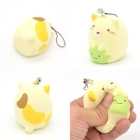 Wholesale rose aroma - Cartoon Squishy Adorkable Slow Rising Jumbo Kawaii Squeeze Squishies Toys Charms Lovely PU Super Soft Cat Aroma Pendant 8 5ar V