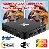 caixa de tv ram venda por atacado-SCISHION Modelo X Android 8.1 Caixa de TV Rockchip RK3229 2 GB de RAM 16 GB ROM 4 K TV de ultra inteligente Caixas de Streaming 5G WiFi 4K H.265 HDMI
