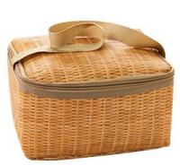 сумки для обеда оптовых-Имитация ротанга обед мешок толщиной изоляции мешок водонепроницаемый мешок идти на работу, в школу, на пикник, держать его в тепле сохранить свежесть