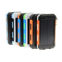 Wholesale solar powered mobile phone chargers online – Waterproof solar charger mah universal power bank with LED flashlight and compass for Mobile Phones outdoor camping light
