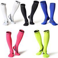 Wholesale Cotton Compression Socks Women - Compression Stockings Women & Men 10-25mmHg Marathon Professional Running Socks For Basketball Football Socks Legguards Cycling Socks G497Q