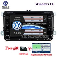 Wholesale gps for jetta - QZ 1080P rns510 2din 7inch Car DVD player for VW JETTA PASSAT B6 CC GOLF 5 6 POLO Touran Tiguan Caddy SEAT with radio Wifi GPS 3G Navigation