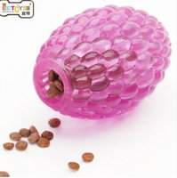 Wholesale tpe toys for sale - Group buy TPE rugby dog Toys Ball Funny Playing Dog Food Dispenser Cleaning Teeth Puppy Chew Toys for Teddy Golden Retriever