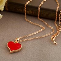 Wholesale Ethnic Long Necklaces - 2018 New Small Heart Necklace for Women Long Chain Heart Shape Pendant Necklace Gift Ethnic Bohemian Choker Necklace