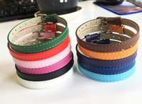 Wholesale 8mm letters accessories for sale - Group buy 10PCS MM Genuine Leather Wristband Bracelets DIY Accessory Fit mm Slide Letter Slide Charms Slide Beads