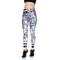 rosa lycra-leggings großhandel-Pottis Frauen Fitness Leggings Frauen Rosa Leopard Hosen Gedruckt Ankle Länge Yoga Hose Hohe Taille Legging