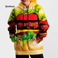 jersey de hamburguesa al por mayor-2018 Hombres / Mujeres Fresco Hamburguesa Sudadera Hip-Hop Sudadera Primavera Manga Larga Moda Calle Casual Suéter de bolsillo