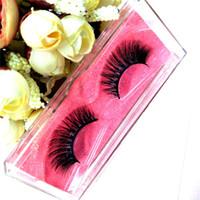 Wholesale Eyelash Extensions Human Hair - seashine Lashes Top 3D Real Pramade Lashes Customize Lable Mink Lash Sexy Mink Eyelashes Extension 10 Pairs Lot Free Shipping