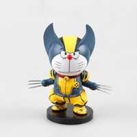 Wholesale anime doraemon for sale - Doraemon Cosplay Wolverine Anime Action Figure Collection toys for christmas gift with retail box
