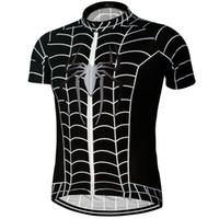 ingrosso capo americano della bici-Traspirante Captain America Spiderman Batman Cycling Jersey manica corta Camicia da uomo estiva Abbigliamento da bicicletta Cime da ciclismo Abbigliamento da ciclismo