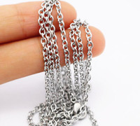 ingrosso catena in acciaio inossidabile-10meter in Bulk Monili Che Fanno Meter Smooth Rolo Chain Stainless Steel Silver 1.8 / 3 / 4.5 Link Chain From Jewelry Findings Craft