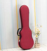 26 polegadas ukulele venda por atacado-Ukulele HarBox Caso Saco peso leve Soprano Concerto Tenor 21 23 26 Polegada Ukelele Cinza Vermelho Azul Mini Guitarra Acessórios Peças