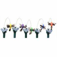 ingrosso giardino della farfalla-Solar Butterfly Hummingbird Giardinaggio Idillio giocattolo Elettrico Fly Simulazione Farfalla Solare Piuma Giocattoli Colorare Casuale