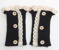 schnürsenkelmanschetten großhandel-Knit Lace Socken Boot Socken Strümpfe Herbst Winter Beinlinge Manschetten Socke für Frauen Chritsmas Geschenke Drop Shipping