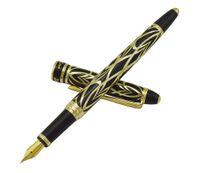 ingrosso penne stilografiche picasso-Picasso 901 Fountain Pen Amorous Feeling of Paris 18KGP Fine pennino Golden Golden Office Business School Writing Pen regalo