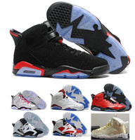 Wholesale youth boys size 12 - 2018 Children 6 Basketball shoes for Boys Girls ReTro Infrared Carmine 6s UNC Toro Hare Oreo Maroon Youth Sports Sneakers Kids size EU28-35