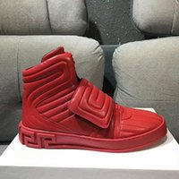 Wholesale red sheet metal - New hot sell red Arrivla Fashion Mens medusa Side zipper Sheet metal kanye westCasual shoes free size 38-46