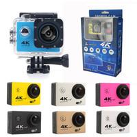ingrosso videocamera di azione a pieno hd-Più economico 4K videocamera per azioni F60 F60R WIFI 2.4G telecomando impermeabile videocamera sportiva 16MP / 12MP 1080p 60FPS videocamera subacquea