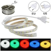 Wholesale Waterproof Outdoor Rope Lights - 100M LED Strip Lights 220V 110V Waterproof LED Rope Light For Home Christmas Decoration Outdoor Games DDA331