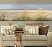 пляжная живопись оптовых-HD печать стены холст искусство морской пейзаж пляж пейзаж живопись небо остров песчаные дюны хвост трава плакат настенные панно для гостиной