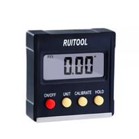 ingrosso casella di livello-RUITOOL 360 gradi Mini Digital Goniometro inclinometro elettronico a livello di casella Strumenti di misurazione a base magnetica