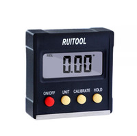 nível digital venda por atacado-RUITOOL 360 Graus Mini Digital Transferidor Inclinômetro Caixa de Nível Eletrônico Base Magnética Ferramentas De Medição