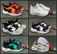 Wholesale fabrics children - 2018 Air Huarache Ultra Running Shoes kids sport White Children Huaraches huraches Designer Hurache Casual trainers Running Sneakers 28-35