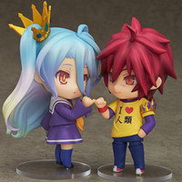 Wholesale Plastic Face Doll - 10cm GAME NO LIFE action figure Toy Collection Movie Change face doll lovely Anime ornaments child birthday gift electronic pet
