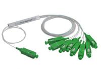 Wholesale Fiber Apc - Free Shipping 10pieces lot 0.9mm Steel Tube 1x8 Mini SC APC Fiber Optic PLC Splitter