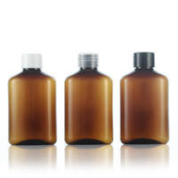 Wholesale brown pet bottles - Empty PET Brown Lotion Cream Bottles With Screw Cap,125ML Refillable Shampoo,Shower Gel,Body Milk Cosmetics Packaging F20172814