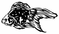 nette karikaturfische großhandel-Auto Styling Für GOLDFISH Vinyl Aufkleber Aufkleber Autofenster Wand Stoßstange Fisch Nette Koi Oranda Fisch
