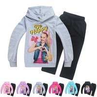 hoodies grandes dos miúdos venda por atacado-Crianças JOJO agasalho 4-12 anos big girls manga comprida camisola hoodies jaqueta com calças 2 pcs terno crianças roupas casuais no outono inverno
