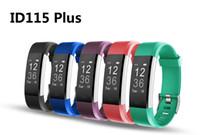 día de juego pulsera al por mayor-ID115 Plus Smart Wristbands Fitness Tracker Monitor de ritmo cardíaco Podómetro Smart Band para IOS Android Phone 10pcs / lot en paquete minorista