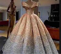 Wholesale Kim Kardashian Ball Gowns - Evening dress Yousef aljasmi Kim kardashian Ball gown V-Neck Long dress Almodal gianninaazar Keyshia KaoirZuhair murad