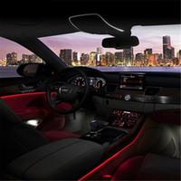neon halat tel araba toptan satış-3 M Araba Chasing EL Tel Işık Lambası Şerit Esnek LED Neon Tüp Halat Parti Elbise Ev Araba Styling Lada Granta Için