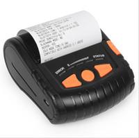 Wholesale Adhesive Printer - 80mm Label Thermal Printer Bluetooth Protable Mini Stickers Label Printer Small Ticket Label Self-adhesive Paper 1 2D Code TXT