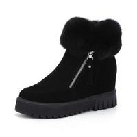 dame bottes de neige chaude achat en gros de-2018 nouvelles femmes chaudes bottes de neige d'hiver tête ronde bas talon augmentation côté fermeture à glissière cheville bottes courtes femmes dames chaudes bottes occasionnelles