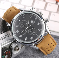Wholesale famous brand wristwatches for men for sale - Group buy 2019 Famous Luxury Fashion Brand Watches For All Men Quartz Watch Leather Strap Business Wrist Watch Wristwatches Christmas Gift Relógio