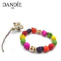 roupas de moda venda por atacado-Dandie moda cor crânio forma acrílico pulseira, para o desgaste diário de uma mulher, apto para uma festa