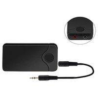 ingrosso portatile del ricevitore del bluetooth-B18 Ricevitore audio stereo wireless AUX 3.5mm Music MTK Bluetooth Ricevitore trasmettitore 2 in 1 Adattatore per telefoni cellulari Laptop 2018 Nuovo