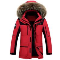 ingrosso grande cappotto di pelliccia-2017 New Winter Down Jacket Raccoon Fur Hood uomo Abbigliamento di alta qualità Giacche casual Ispessimento Parka Maschio Big Coa