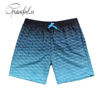 Wholesale Pocket Boxers - Pocket Printed Quick Dry Swimsuit Men Swimwear Shorts Swimming Trunks For Bathing Surf Boxer Briefs Bathing Beach Wear Xxl