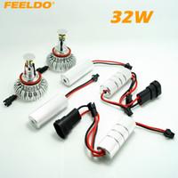 engel augen x5 großhandel-FEELDO H8 32W LED Angel Eyes HALO RING-Glühlampen für BMW E92 / E60 / E70 / E89 / X5 / E71 / X6 mit OEM Xenon-Scheinwerfern # 4255