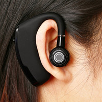 Wholesale headphone for one ear - V9 Bluetooth headphones wireleess Handsfree Business earphone With Mic Voice Control Headset For Drive one piece sample for iphone universal