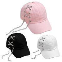 punk stili şapka toptan satış-3 Renkler Avrupa ve Amerika Moda Unisex Bay Bayan Beyzbol Doruğa Cap Ayarlanabilir Snapback HipHop Şapka Punk Tarzı Için