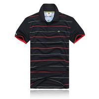 ingrosso cotone di marca-2018 Polo in cotone ricamato Polo in cotone solido Uomo manica corta in coccodrillo POLO Shirt Summer Wear Lape